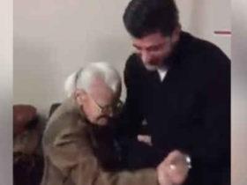 კახა კალაძემ თავშესაფარში მოხუც ქალთან იცეკვა - ვიდეო