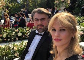 ნინი ბადურაშვილის ყოფილი ქმარი მეუღლესთან ერთად