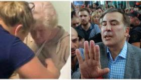 """მოტეხა თუ არა ხელი სააკაშვილმა ასაკოვან ქალს - ,,ასე მუშაობს ბანდიტური პროპაგანდა"""""""