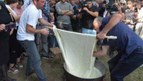რეკორდი - იაგო დარსალიამ 34 კილოიანი სულგუნი დაამზადა