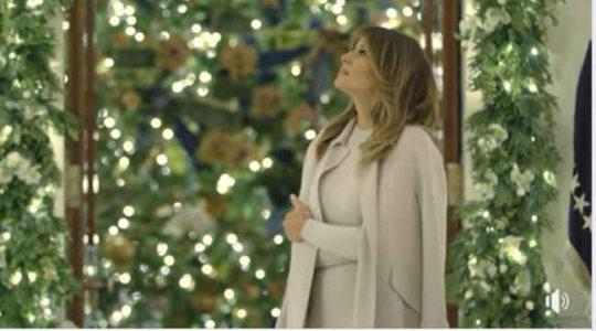 მელანია ტრამპმა თეთრი სახლი საშობაოდ უკვე მორთო – ვიდეო