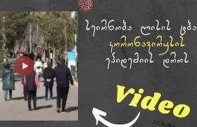 """სეირნობა ლისის ტბაზე - როგორ ესმის ზოგს: ,,დარჩი სახლში"""" - ვიდეო"""