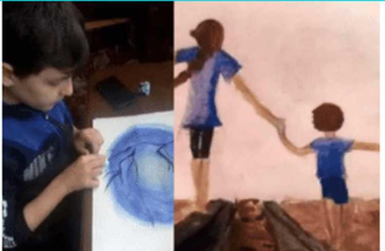 """,,ასე წავიდა დედიკოსთან ერთად"""" - ნანგრევებში დაღუპული 12 წლის დათას წინასწარმეტყველური ნახატი"""